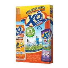KIT REPELENTE DE INSETOS SPRAY FAMILY CARE 200ML + LOÇAO REPELENTE DE INSETOS KIDS 100ML XO INSETO