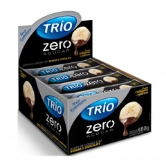 BARRA DE CEREAIS BANANA E CHOCOLATE ZERO AÇUCAR TRIO 20G