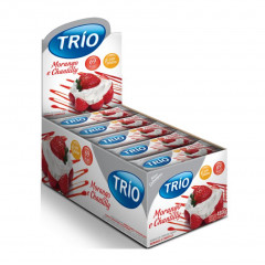 BARRA DE CEREAIS MORANGO E CHANTILLY SOBREMESA LIGHT TRIO 20G