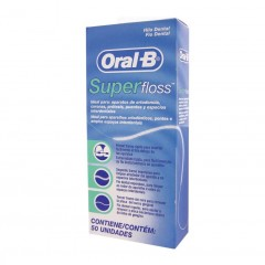 FIO DENTAL SUPERFLOSS ORAL-B 50U