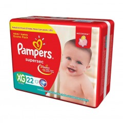 FRALDA SUPERSEC PAMPERS EXTRA GRANDE 22U