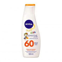PROTETOR SOLAR FPS 60 KIDS SENSITIVE NIVEA SUN 125ML