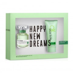 KIT PERFUME FEMININO UNITED DREAMS LIVE FREE EDT 50ML + LOÇAO CORPORAL100ML BENETTON