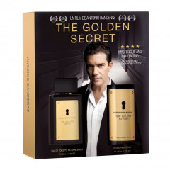 KIT PERFUME MASCULINO THE GOLDEN SECRET ANTONIO BANDERAS EDT 100ML + DESODORANTE SPRAY 150ML