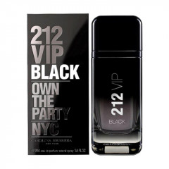 PERFUME MASCULINO 212 VIP BLACK MEN CAROLINA HERRERA EDT 100ML