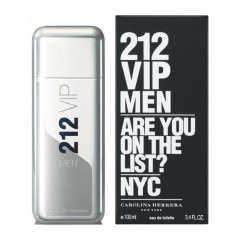 PERFUME MASCULINO 212 VIP MEN CAROLINA HERRERA EDT 100ML