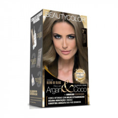 TINTURA KIT 7.1 LOURO NATURAL ACINZENTADO BEAUTY COLOR