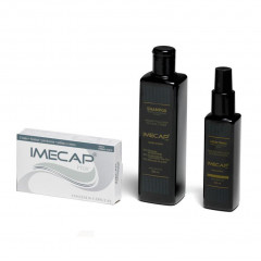 KIT QUEDA INTENSA IMECAP HAIR 30 CAPSULAS + SHAMPOO 300ML + LOÇAO TONICA 100ML
