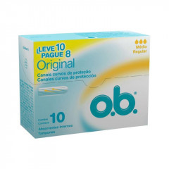 ABSORVENTE INTERNO  O.B ORIGINAL MEDIO LEVE 10 PAGUE 8