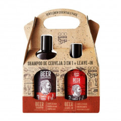 KIT BEER SHAMPOO DE CERVEJA 3 EM 1 240ML + LEAVE-IN BEER 140ML QOD BARBER SHOP