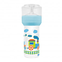 MAMADEIRA SUPER SILICONE DIVERTIDA AZUL LILLO 260ML