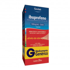 IBUPROFENO 100MG/ML SUSPENSAO ORAL GOTAS 20ML - GEOLAB GENERICO