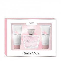 KIT BELLA VIDA FEMININO PERFUME EDP 80ML MAIS HIDRATANTE 100ML MAIS SHOWER GEL 100ML