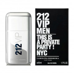PERFUME MASCULINO 212 VIP MEN CAROLINA HERRERA EDT 50ML